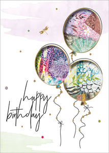 Birthday Balloons - Individual Birthday Card