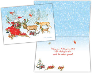 Santa on Parade - Boxed Christmas Cards
