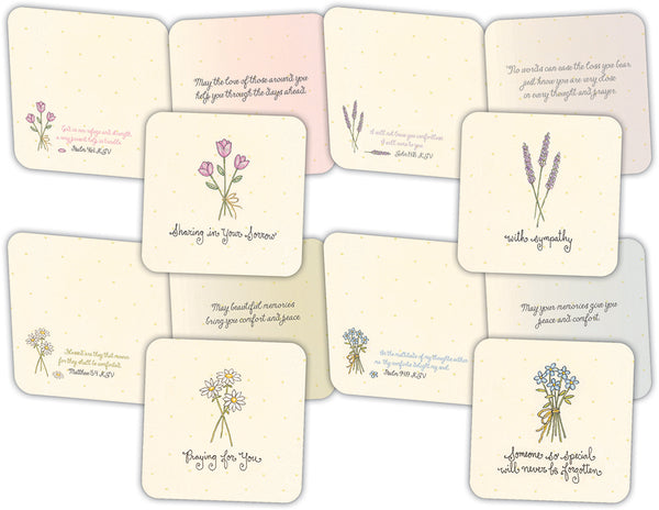 Simple Sympathy - Assorted Sympathy Cards, Box of 16