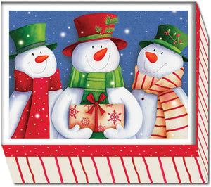 Smiling Snowmen - Special Finish Boxed Christmas Cards