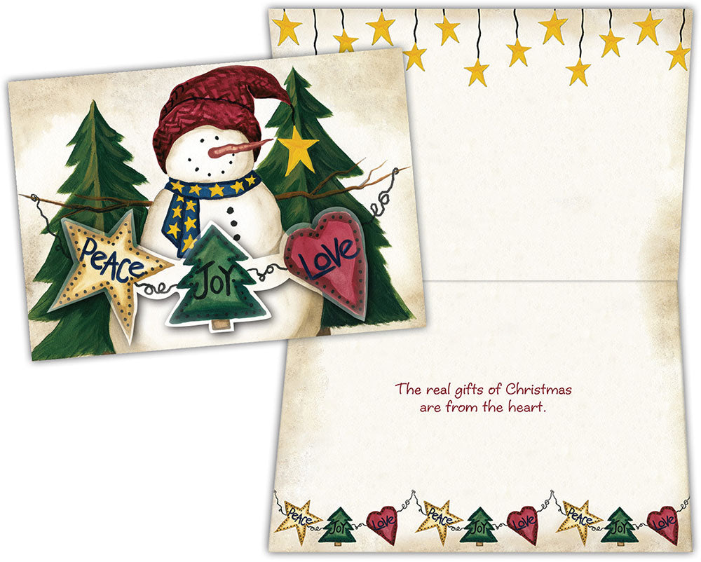 Snowman Garland - Boxed Christmas Cards