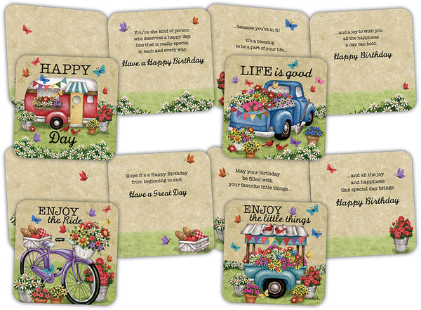 Summer Fun Birthday - Assorted Birthday Cards, Box of 16