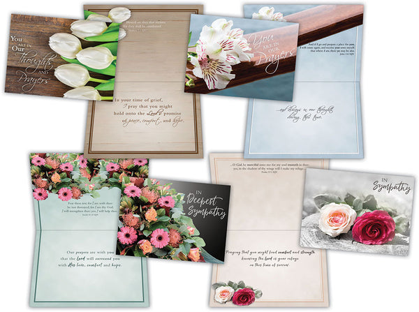 Sympathy Bouquets - Assorted Sympathy Cards, Box of 12