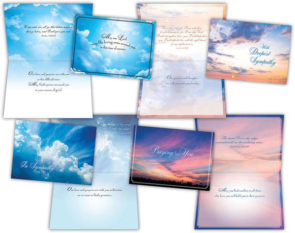 Sympathy - Clouds in the Sky - Assorted Sympathy Cards, Box of 12