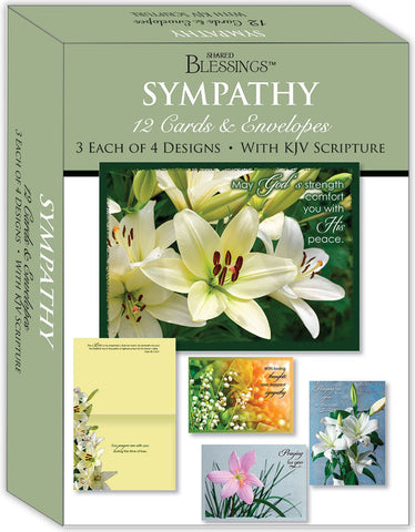 Sympathy - Lilies - Assorted Sympathy Cards, Box of 12