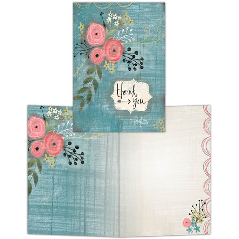 Thank You Bouquet - Boxed Thank You Cards, Box of 15
