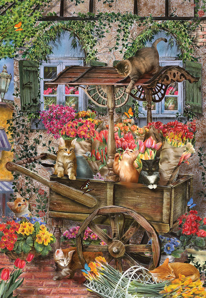 The Flower Cart - 1000 Piece Jigsaw Puzzle