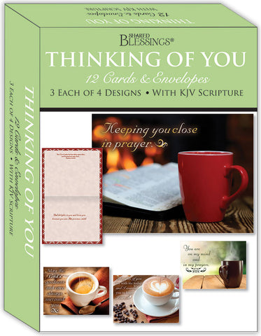 Thinking of You - Blessed Thoughts - Assorted Thinking of You Cards, Box of 12