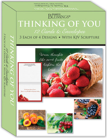 Thinking of You - Fruitful Blessings - Assorted Thinking of You Cards, Box of 12