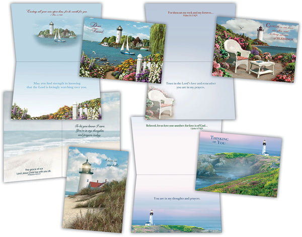 Thinking of You I - Assorted Thinking of You Cards, Box of 12