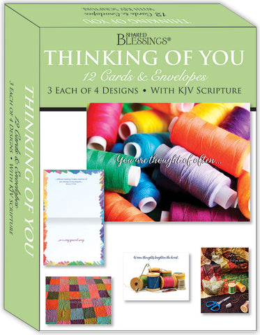 Thinking of You - Quilted Blessings - Assorted Thinking of You Cards, Box of 12