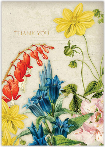 Vintage Rose & Floral - Individual Thank You Card
