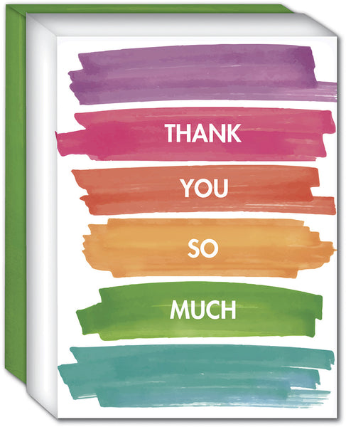 Watercolor Stripes Thank You - Boxed Thank You Cards, Box of 15