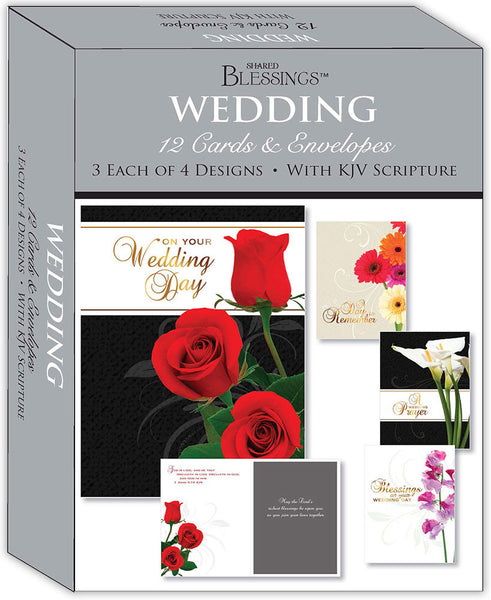 Wedding - Assorted Wedding Cards, Box of 12