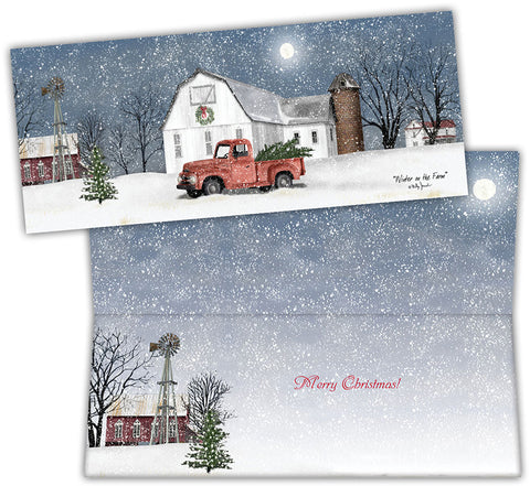 Wintry Weather - Special Finish Boxed Christmas Cards