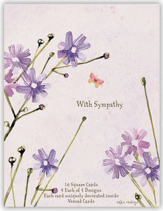 With Sympathy - Assorted Sympathy Cards, Box of 16