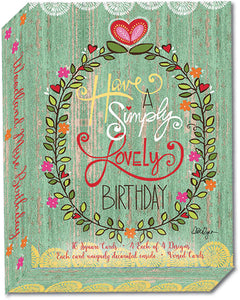 Woodland Muse Birthday - Assorted Birthday Cards, Box of 16