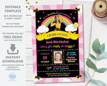 Load image into Gallery viewer, Emma Bow The Wiggles Photo Chalkboard Invitation Editable Template - Digital Printable File - Instant Download - WG1