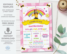 Load image into Gallery viewer, Emma Bow The Wiggles Photo Invitation Editable Template - Digital Printable File - Instant Download - WG1