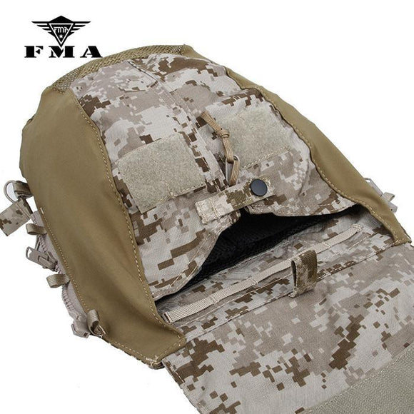 FMA Tactical Vest JPC2.0 Zipper-on Panel Bag CPC AVS Pouch AOR1 for Shooting Military Vest Plate Carrier
