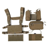 FMA Tactical Fight Vest Rig Set Micro Chest Rig Low Profile Mini Cordura Coyote Brown(CB)