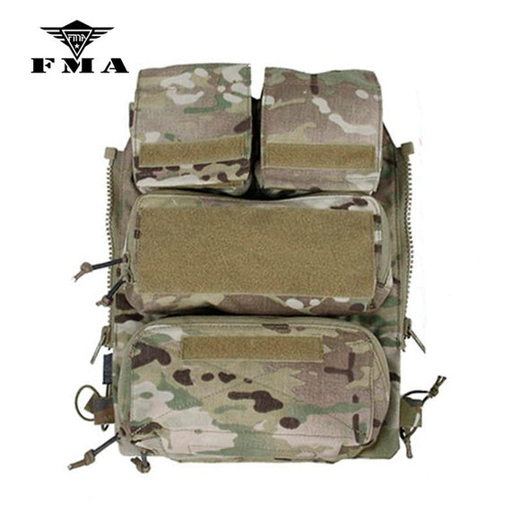 FMA Tactical Vest Zipper Pouch Bags Multicam Limited Edition for Tactical Vest 16-19 AVS JPC2.0 CPC