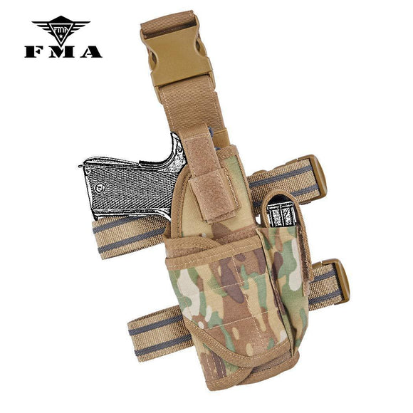 FMA Tactical Holster Drop Leg Holster Tactical Thigh Holster Adjustable for Universal Gun Holster