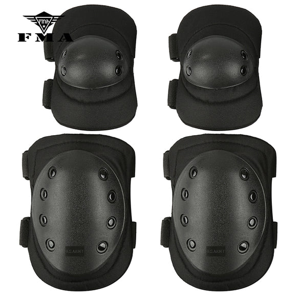 FMA Knee & Elbow Pad 4 Pcs Sports Military Knee Elbow Protector Tactical Combat Protective Set