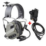 EARMOR M32 Tactical Headset & PTT Set for Noise Canceling Headphones Military Aviation Shooting