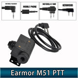 Opsmen Earmor Tactical Headset M51 PTT Adapter
