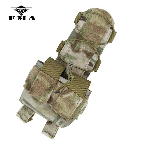 FMA Tactical Helmet Battery Pouch Multicam Accessory Pouch for Combat Helmet