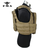 FMA Tactical Vest CAC Plate Carrier 500D Cordura Outdoor Non-reflective