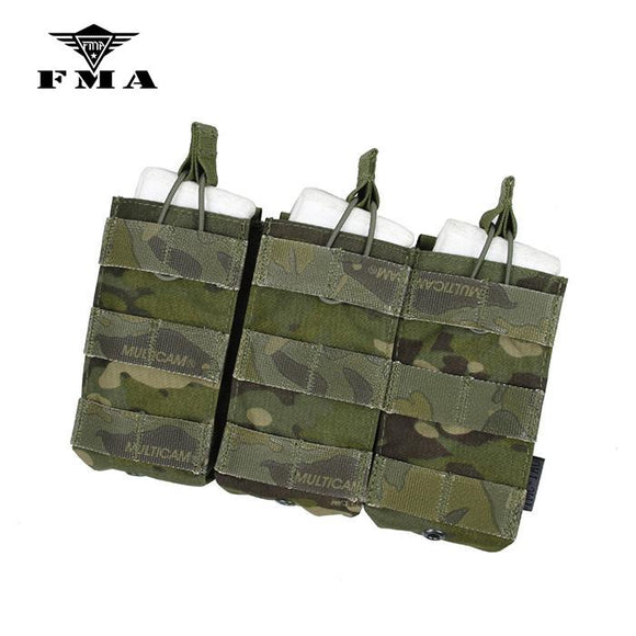 FMA Tactical Triple Molle 556 Magazine Pouch Multicam Military MOLLE Vest Trigeminy Storage Bag