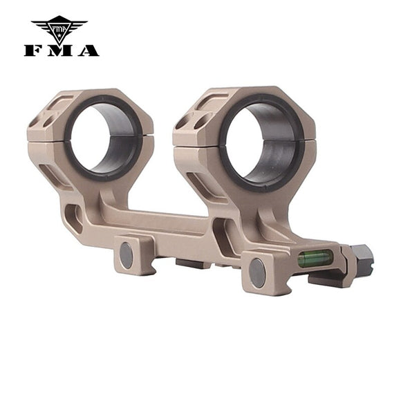 FMA Extend Dual Ring AR15 M4 M16 Optic Defense Rifle Optical Scope Mount 1 Inch/30mm Picatinny Weaver Rail with Bubble Level