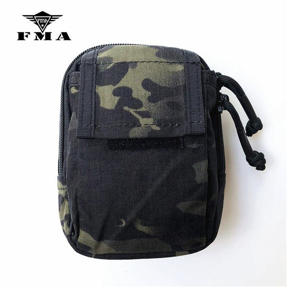 FMA Tactical Pouch Multicam Black Waist Bag Molle Hunting & Airsoft Small Tools Bags