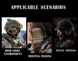 Tactical AMP HeadSet Noise Reduction Military Aviation Communication Head-mounted Headphone