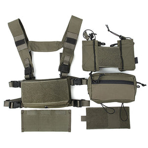 FMA Tactical Chest Rig Full Set Multicam Cordura 500D SS Micro Low Profile Light Fight