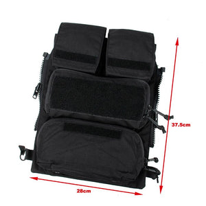 FMA Tactical Zipper Pouch Bags Black for TMC Tactical Vest 16-19 AVS JPC2.0 CPC