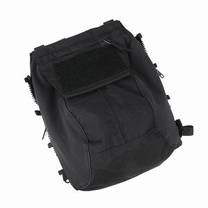 FMA Military Tactical Vest Zipper Pouch Bag Black Zip Panel Back Pack NG Ver