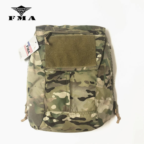 FMA Tactical Zipper-on Panel Pouch Multicam for TMC CPC AVS JPC2.0 Shooting Military Vest