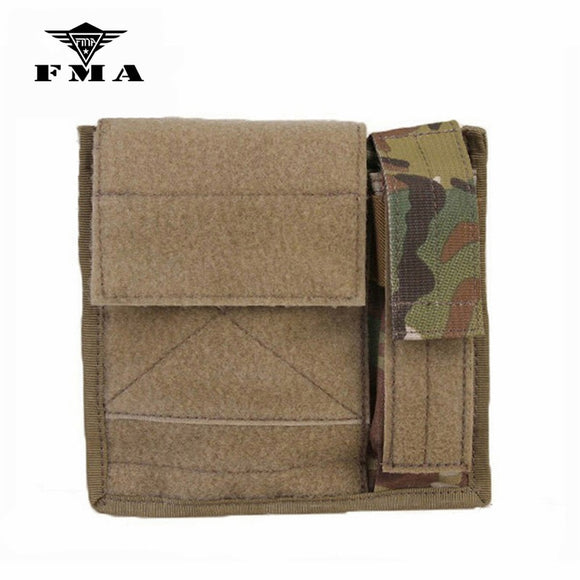 FMA Tactical MAP Pouch Admin&Light Molle Bags Military Tactical Accessory Multicam Black