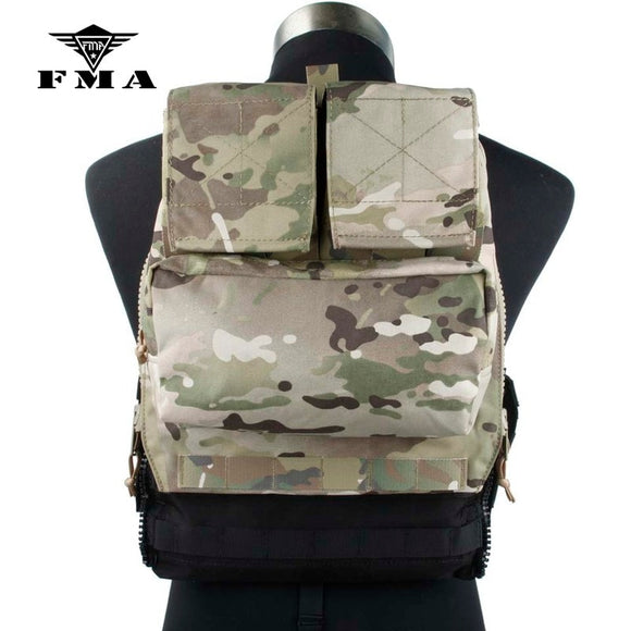 FMA Tactical Zipper Pack Pouch MC Zip-On Panel for TMC Vest JPC CPC AVS Military Molle Zipper Pack
