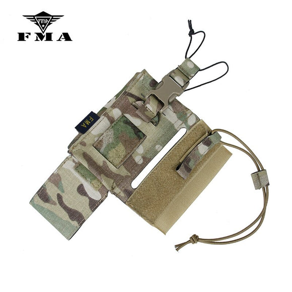 FMA Tactical Walkie Talkie Bag 148/152 Radio Pouch Multicam