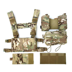 FMA Lightweight Tactical Vest SS Modular Chest Rig Set Chest Hanging 500D Multicam Tropic