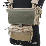 FMA Multicam Tactical pouches Three-piece Set Accessories bags for SS Chest Rig Chest Hanging