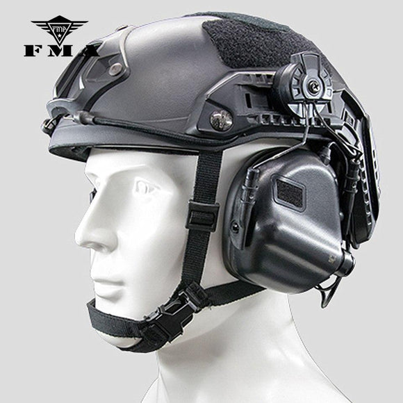 EARMOR M31H Tactical Noise Canceling Hearing Protection Headphone for FAST MT Wendy Helmets Rail