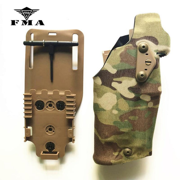 FMA Glock17 Pistol Tactical Holster X300 Light-Compatible for Glock17 / Glock18 Holster