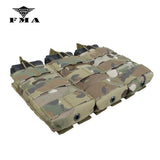 FMA Triple Molle 556 Magazine Pouch Tactical Military Pouches MOLLE Vest Trigeminy Storage Bag