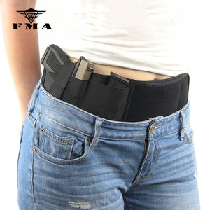 FMA Tactical Pistol Holster Military Portable Hidden Holster Wide Belt Mobile Outdoor Hunting Holster