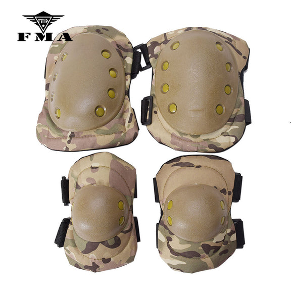 FMA Knee Pads Elbow Pads Set Combat Airsoft Tactical Protective Pads Multicam